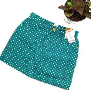 Gymboree New Girl's Teal Polka Dot Mini Skirt